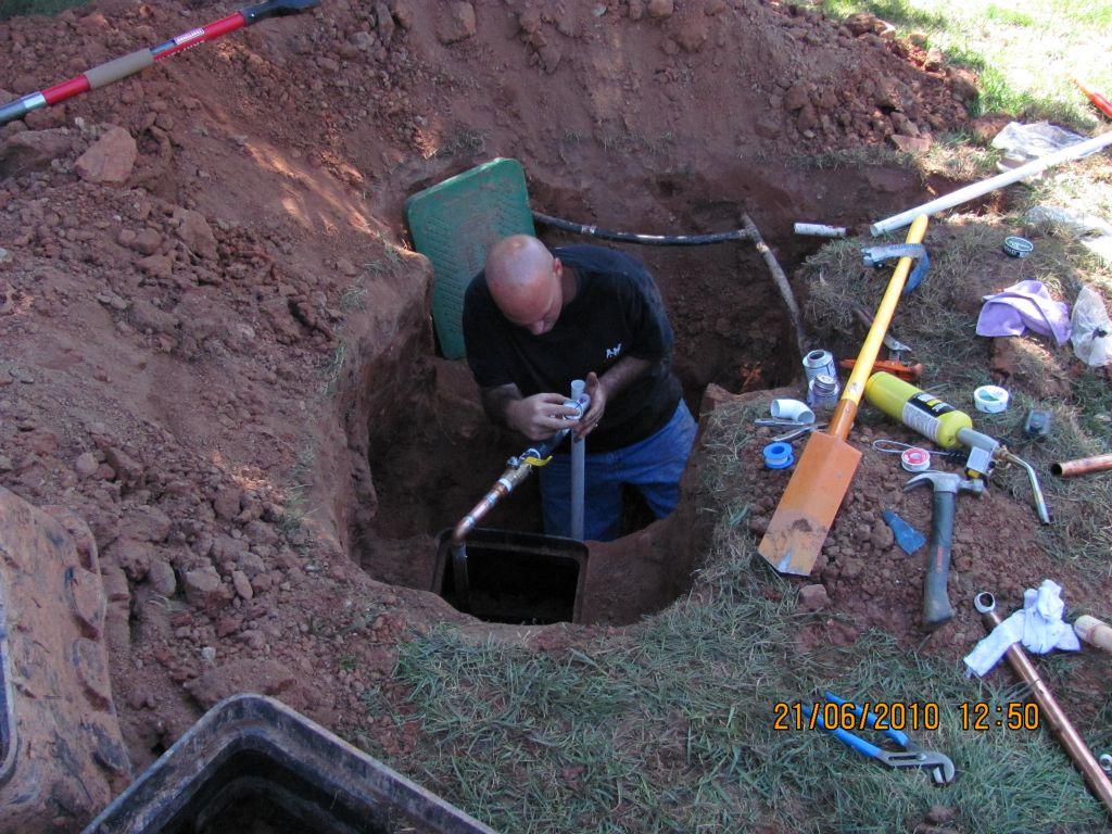 Repairing Irrigaion Connection